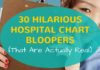 hospital chart bloopers for Nurses