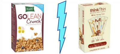 Kashi GOLEAN Crunch! vs. ThinkThin