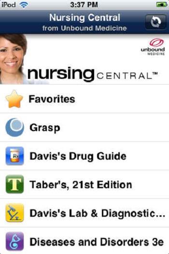 Nursing Central + apps for nursing students