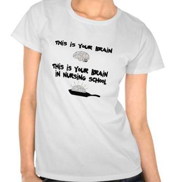 This is your Brain in Nursing School Tees