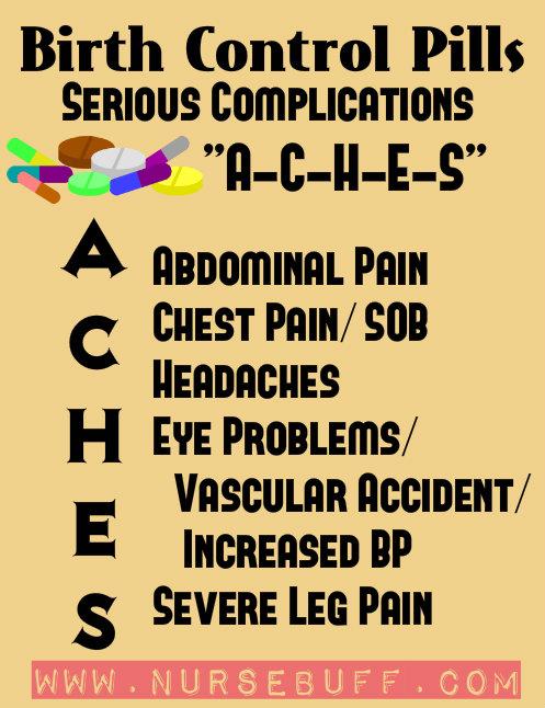 birth control pills nursing mnemonics