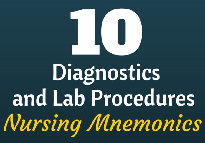 diagnostics and lab procedures nursing mnemonics