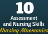 nursing assessment nursing mnemonics