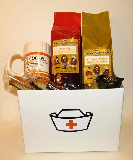 Coffee gift basket idea for nurses