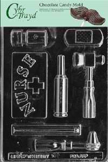 Cybrtrayd J081 Nurse Kit Chocolate Candy Mold with Exclusive Cybrtrayd Copyrighted Chocolate Molding Instructions