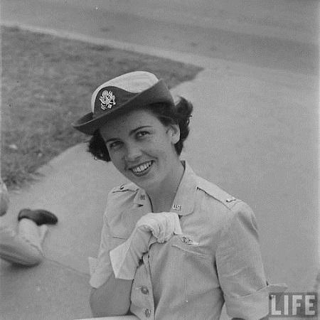 Flight nurse displays her wings at graduation