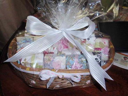 Soap gift basket idea for nurses