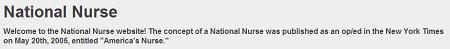 The National Nurse for Public Health