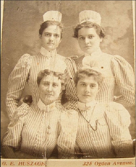 Vintage Nurses Photograph from 1898