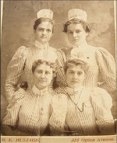 Vintage Nurses Photograph from 1898