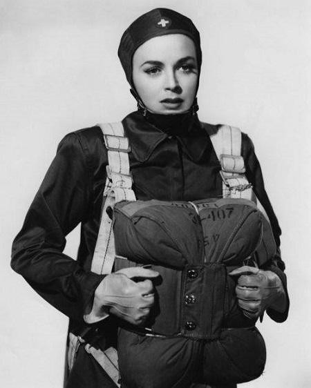 Vintage Parachute Nurse, 1942.