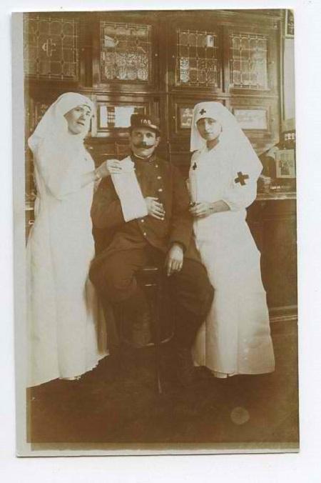 Vintage Red Cross nurses.