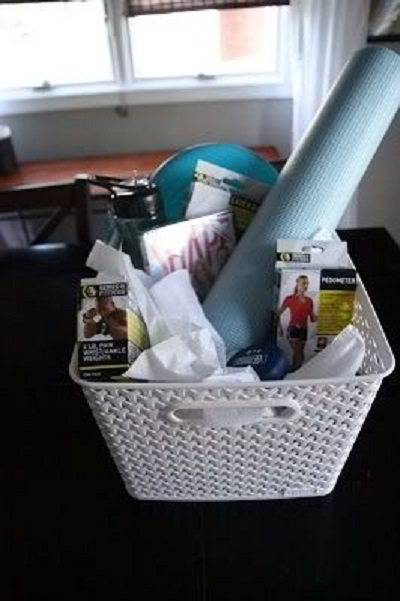 exercise gift basket idea for nurses