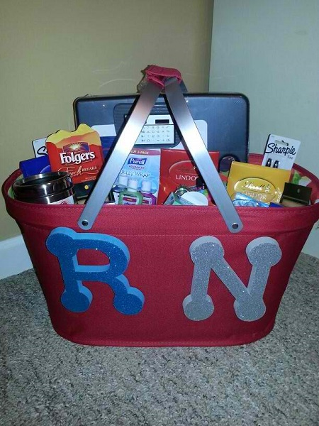new nurse gift basket idea