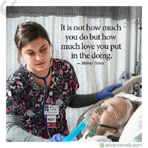 the caring nurse Wherever nurses work, their focus is on the family - its health, its ability to grow, care for itself, and contribute to the community to emphasise the nurse's role.
