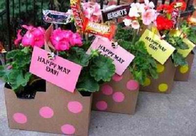 potted flower gift basket for nurses