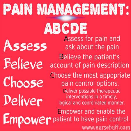 pain management nursing mnemonic