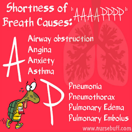 shortness of breath causes nursing mnemonic