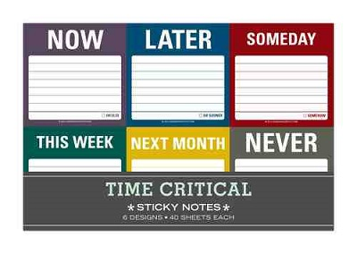Time Critical Sticky Notes