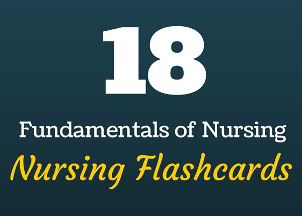 fundamentals of nursing flashcards