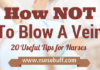 how to prevent venous blow