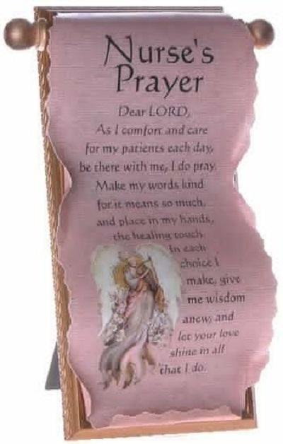 nurse's prayer scroll
