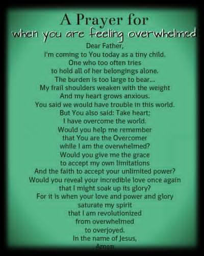 nurse's prayer when feeling overwhelmed