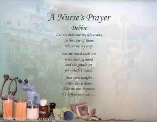 personalized nurses prayer