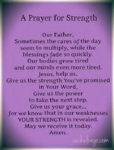 prayer for strength for nurses