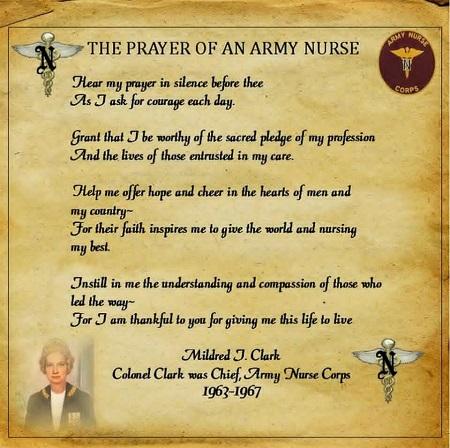 prayer of an army nurse