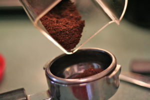 coffee grounds absorb odor