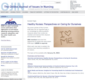 The Online Journal of Issues in Nursing