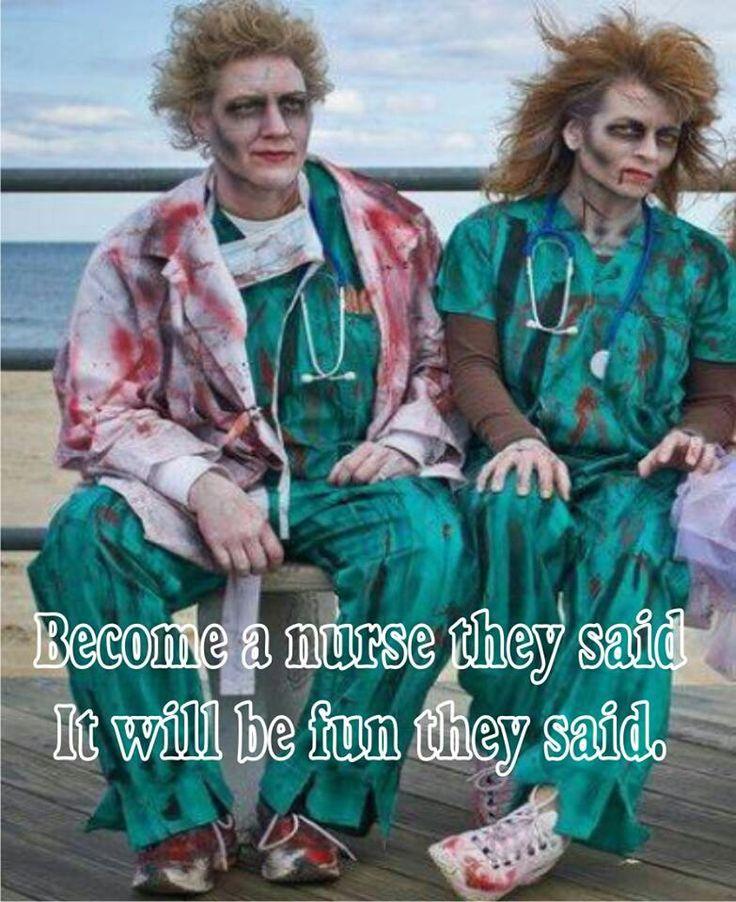 funny nurse zombie
