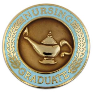 Nursing Graduate Lamp of Knowledge