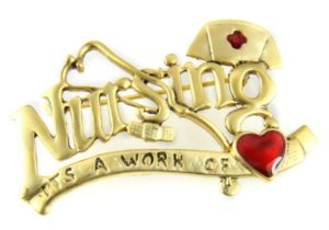 Nursing Is a Work of Heart Pin