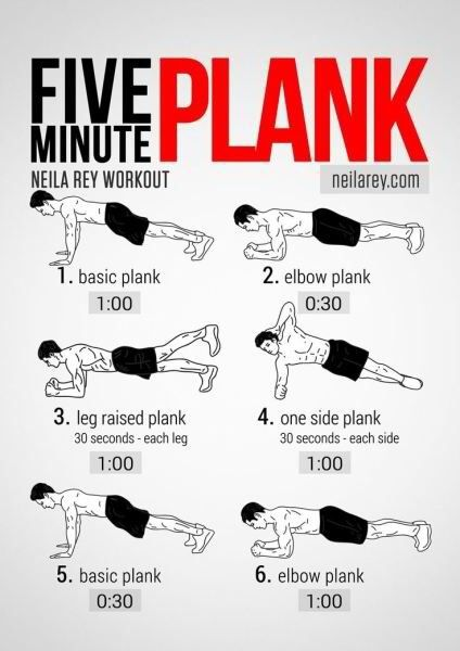 5 minute plank