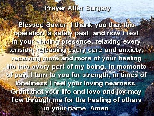 prayer after surgery