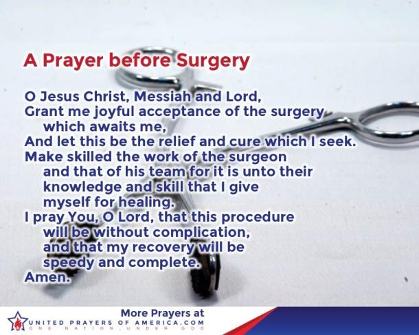 prayer before surgery
