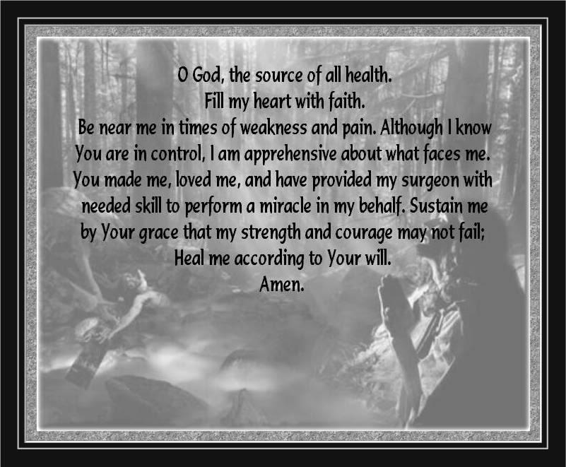 prayer facing surgery