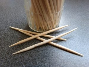 toothpick to clean ears