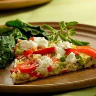 red pepper goat cheese fritata