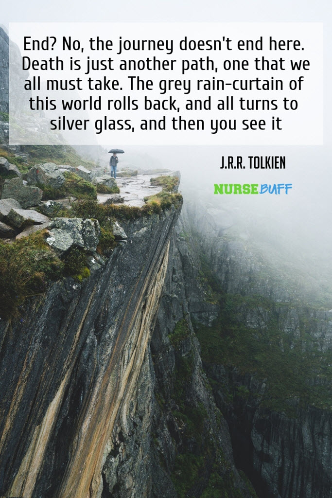 j r r tolkien inspirational death quotes