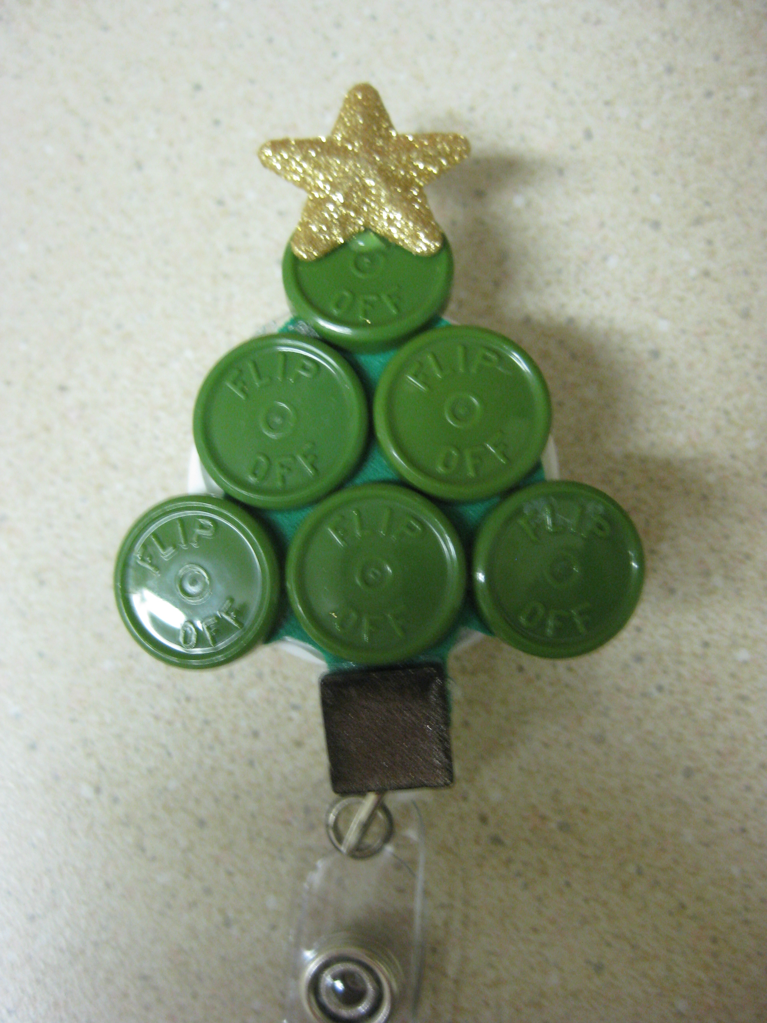 vial top christmas tree