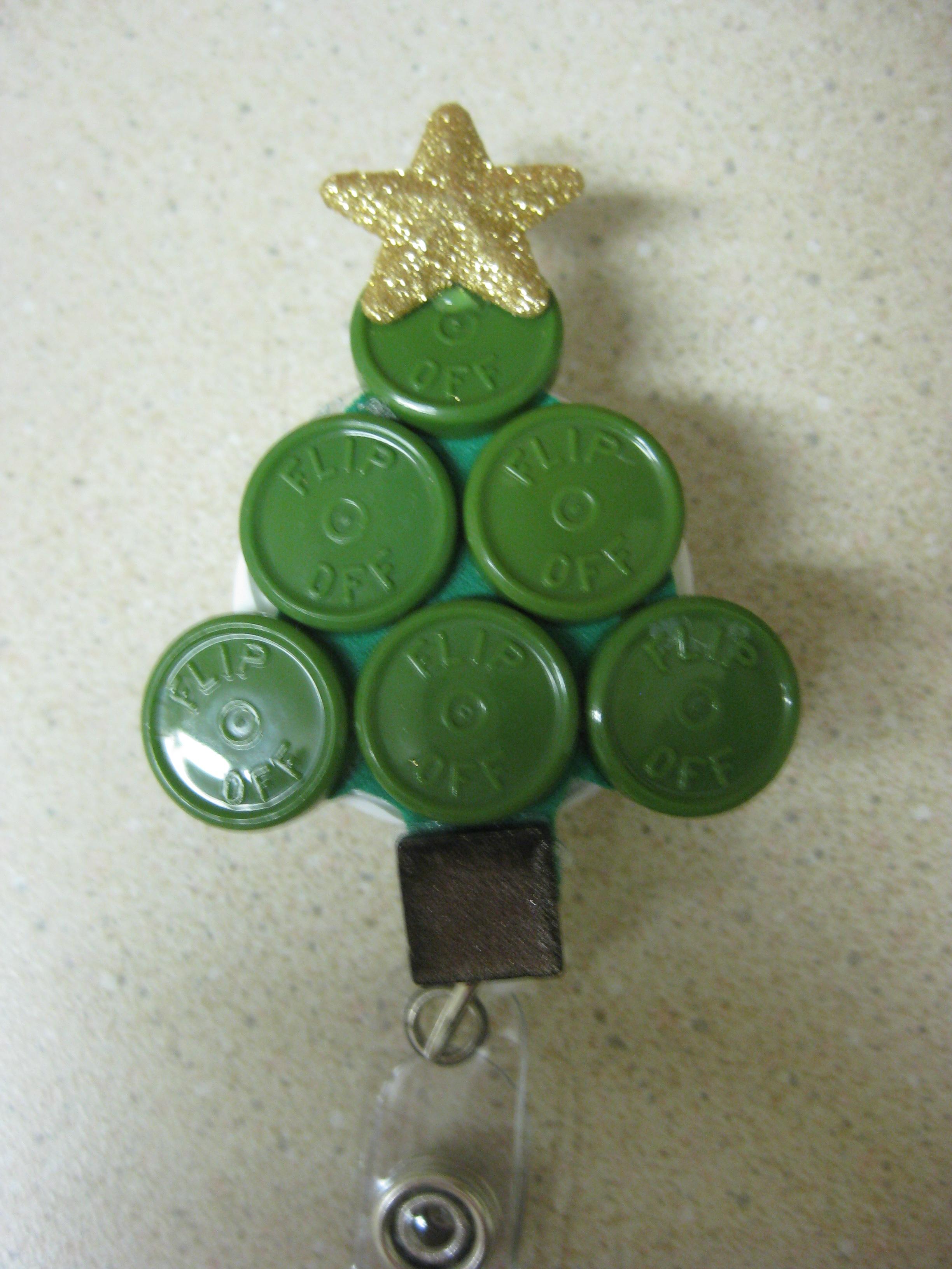 vial top christmas tree