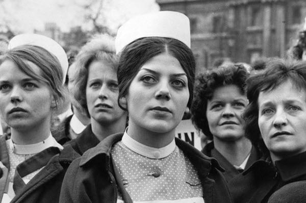 vintage nurses protest meeting
