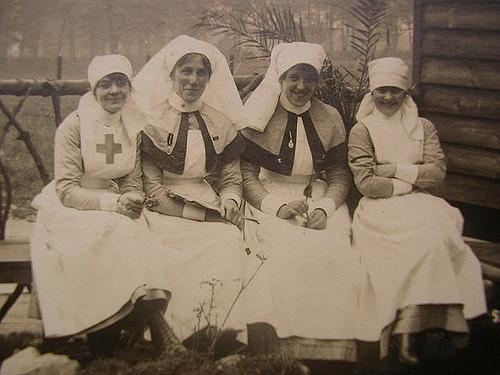 vintage nurses resting