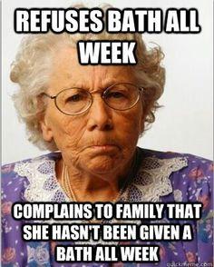 non compliant grandma