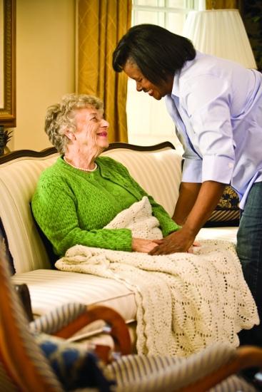 elderly-in-a-blanket