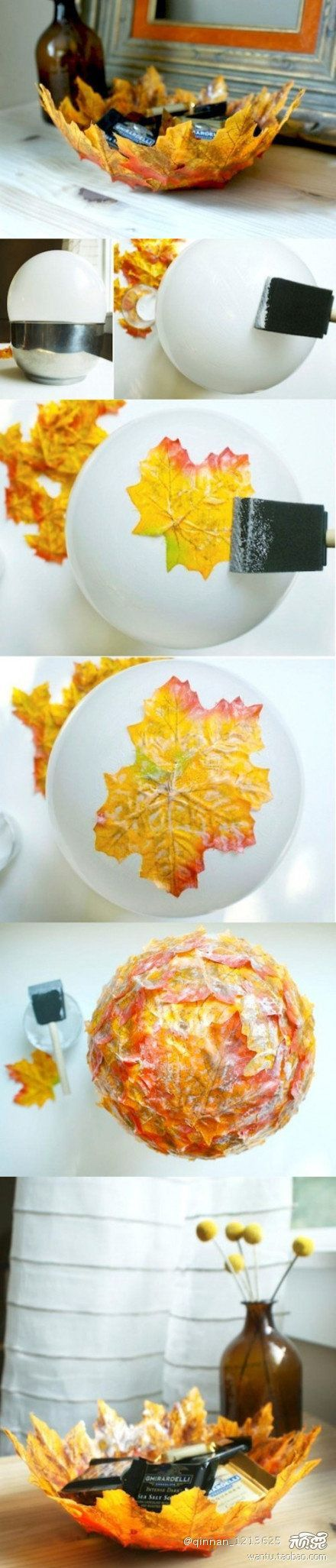 diy leaf bowls