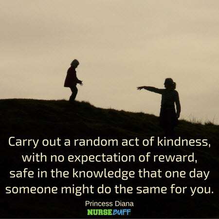 """the act of kindness is never """"no act of kindness, no matter how small no act of kindness is too small you never know how much happiness and what difference you can bring to someone."""